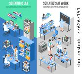 two scientists laboratory... | Shutterstock . vector #776267191