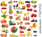 fresh fruit collage on white... | Shutterstock . vector #776271721