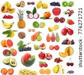 fresh fruit collage on white... | Shutterstock . vector #776271721