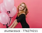 slim white woman with curly... | Shutterstock . vector #776274211