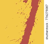 blood on a yellow background ...