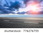 empty asphalt highway and blue... | Shutterstock . vector #776276755