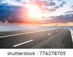 empty asphalt highway and blue... | Shutterstock . vector #776278705