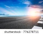 empty asphalt highway and blue... | Shutterstock . vector #776278711