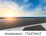 empty asphalt highway and blue... | Shutterstock . vector #776279617