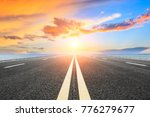 empty asphalt highway and blue... | Shutterstock . vector #776279677
