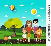 family in city park | Shutterstock .eps vector #776283211