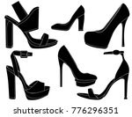elegant women shoes | Shutterstock .eps vector #776296351