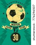 football typographic vintage... | Shutterstock .eps vector #776296507
