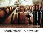 wine cellar with wine bottle... | Shutterstock . vector #776296639