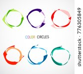 color circles set | Shutterstock .eps vector #776305849