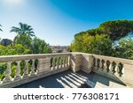 panoramic view of rome seen... | Shutterstock . vector #776308171
