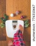 top view of female feet in...   Shutterstock . vector #776310667