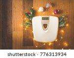 top view of a digital weight... | Shutterstock . vector #776313934