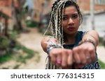 portrait of beautiful black... | Shutterstock . vector #776314315