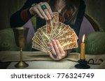 tarot cards on fortune teller... | Shutterstock . vector #776324749