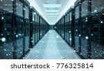 server room center exchanging... | Shutterstock . vector #776325814