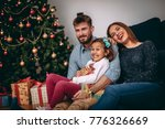 young family having fun in... | Shutterstock . vector #776326669