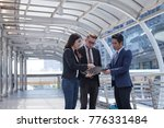 business people or marketing... | Shutterstock . vector #776331484