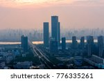 heavy fog on the river and... | Shutterstock . vector #776335261