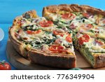 French Classic Pie Quiche With...