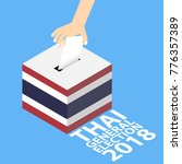 thai general election 2018...   Shutterstock .eps vector #776357389