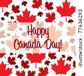 Happy Canada Day Card In Vector ...