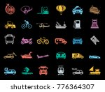 transport icons set | Shutterstock .eps vector #776364307