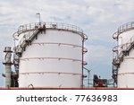 oil tank at terminal - stock photo