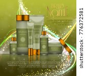 3d realistic cosmetic bottle... | Shutterstock .eps vector #776372581