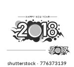 happy new year 2018 text design ... | Shutterstock .eps vector #776373139