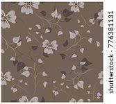 vector seamless pattern flowers ... | Shutterstock .eps vector #776381131