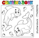 Coloring Book With Dolphins 1 ...