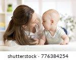 mommy loving her child. mother... | Shutterstock . vector #776384254