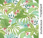 seamless tropical pattern with... | Shutterstock .eps vector #776385649