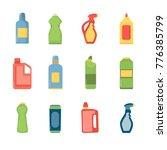 set of clening bottles.... | Shutterstock .eps vector #776385799
