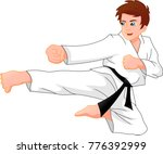cute karate boy | Shutterstock .eps vector #776392999
