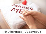 woman accepting marriage... | Shutterstock . vector #776395975