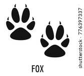 fox paw footprint icon. simple... | Shutterstock .eps vector #776397337