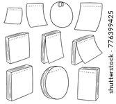 vector set of memo note | Shutterstock .eps vector #776399425