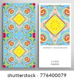 set of decorative backgrounds... | Shutterstock .eps vector #776400079
