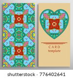 set of decorative cards with... | Shutterstock .eps vector #776402641