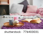 place for reading on soft... | Shutterstock . vector #776403031