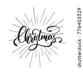 christmas. christmas text... | Shutterstock . vector #776403529