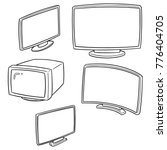 vector set of television | Shutterstock .eps vector #776404705