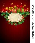 christmas festive backgroung... | Shutterstock .eps vector #776406565