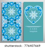 set of decorative cards with... | Shutterstock .eps vector #776407669