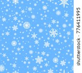 snowflakes seamless background. ... | Shutterstock .eps vector #776411995
