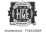 lifetime icon vintage rubber... | Shutterstock .eps vector #776413069