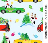 festive vector seamless pattern.... | Shutterstock .eps vector #776415481